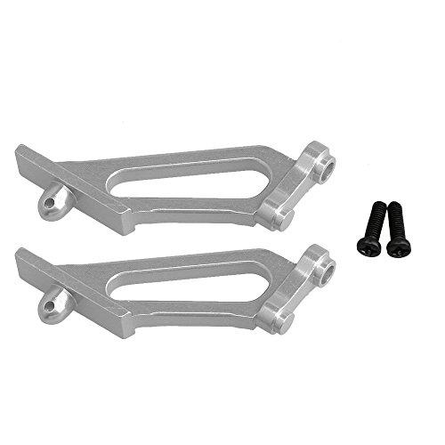 2PCS Al.31306 Wing Support for HIMOTO RC1:10 Off Road Car (Silver)
