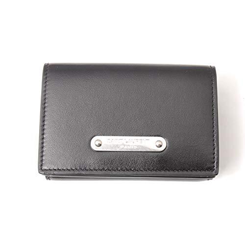 [SAINT LAURENT PARIS(サンローランパリ) ] レザー三つ折りミニ財布 カードケース コインケース ブラック [並行輸入品] B07KN4GRWS