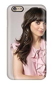 Aarooyner Iphone 6 Well-designed Hard Case Cover Zooey Deschanel Cute Pink Dress Brunettes Actress Celebritys People Women Protector