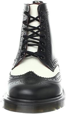 Dr. Martens Affleck in Black+Off White Smooth