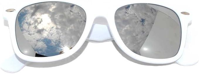 Unisex Vintage Retro Mujeres Hombres Gafas Aviador Lentes Espejados Gafas de