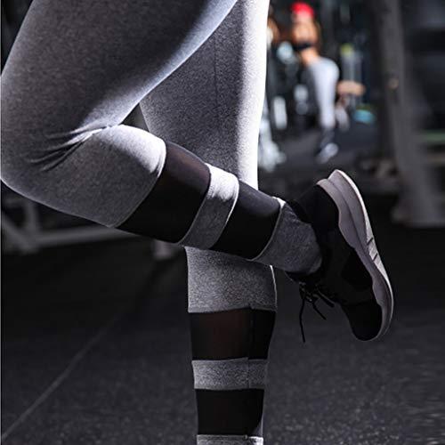 QBQCBB Solid Color Pants Women Hip Yoga Pants Sports Fitness Running Yoga Pants Sweatpants, Leggings{Gray,S} by QBQCBB (Image #2)