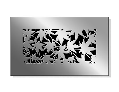 """SABA Fiberglass Decorative Grille Vent Return Register Easy Air Flow Fall Theme Cover 10 Inch X 6 Inch (12"""" x 8"""" Overall). For Walls and Ceilings (not for Floor use)."""