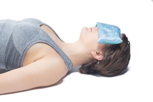 EYE PILLOW LAVENDER + Flax Seed Filled + Carry Bag. Silk Fabric - Use for Yoga, Natural Sleep Aid, Stress Relief, Anxiety Relief, Meditation, Massage Great Relaxation Gift by Savasana Now (Image #1)