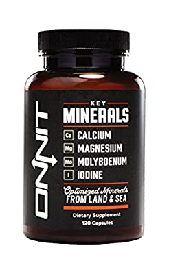 Onnit Key Minerals | Optimized Minerals from Land & Sea (120ct)