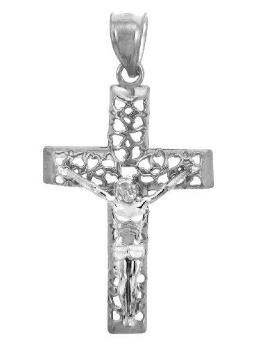 10 ct 471/1000 Sacree Or Blanc Croix Pendentif