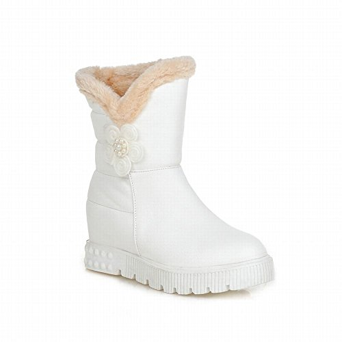 Women's Chic Beaded Flower Platform Snow Boots