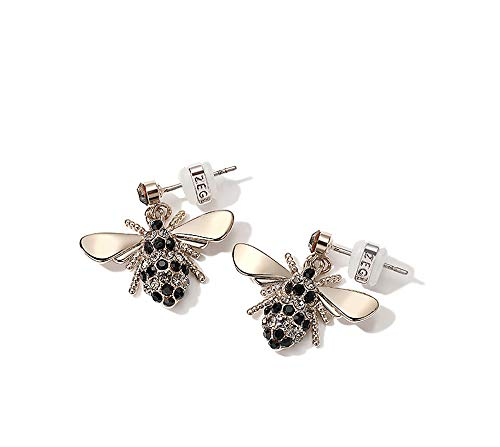 MISASHA Fashion Jewelry Glowing Bumble Bee Statement Evening Dangle Earrings for Women
