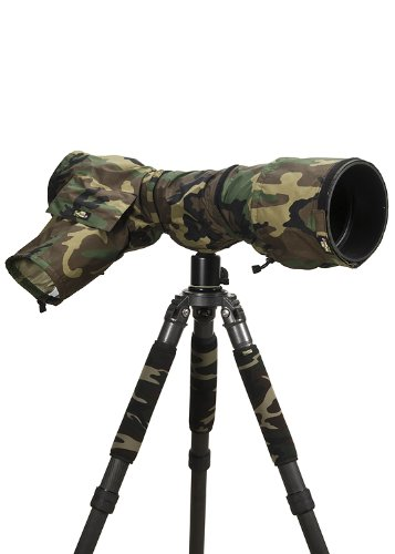 LensCoat RainCoat Pro (Forest Green Camo) camera lens rain sleeve cover camouflage protection LCRCPFG