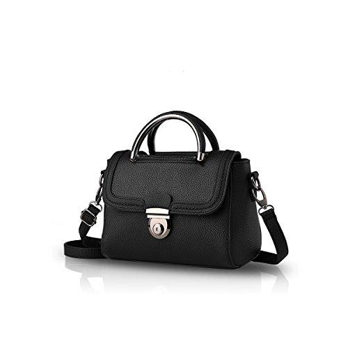 Nicole & Doris New Ladies Small Square Black Bag Messenger Bags / Handbags Women (white)