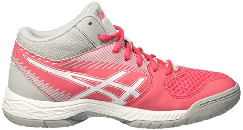 De white Chaussures Red Gel Rosa Grey Task Volleyball rouge Mt mid Multicolore Femme Asics wqZPaIxw