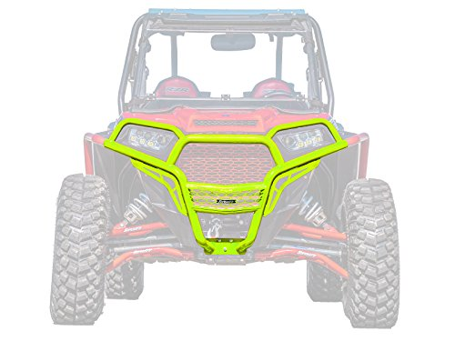 (SuperATV Heavy Duty Front Brush Guard Bumper for Polaris RZR XP 1000/4 1000 (2014-2018) - Lime Squeeze)