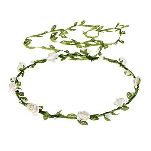 Girl Wreath - Vividsun Girls Flower Crown Wreath Headband Garland Headbands Photography Prop (White)