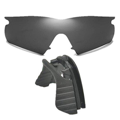 Stealth Black Replacement Lenses for Oakley M Frame Hybrid with black nose - M Clip Oakley Lens Frame