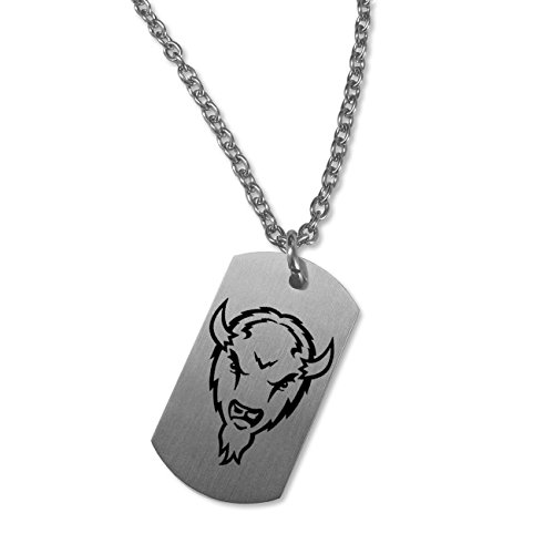 (College Jewelry Marshall Thundering Herd Satin Finish Stainless Steel Dog Tag Necklace (22in)