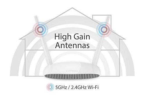 Edimax BR-6478AC V2 AC1200 Gigabit Dual-Band Router, White