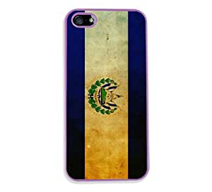 Salavadoran Flag Purple Plastic Bumper iPhone 5 & 5S Case - Fits iPhone 5 & 5S