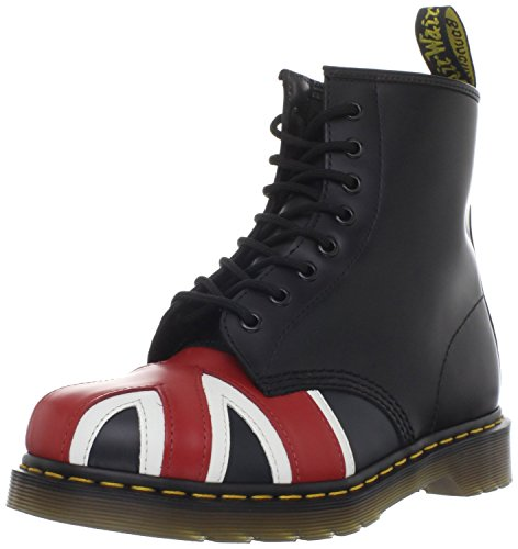 Dr. Martens 1460 Originals Union Jack 8 Eye Lace Up Boot,Black Smooth Leather,4 UK (5 M US Mens / 6 M US Womens) (Union Jack Heels compare prices)