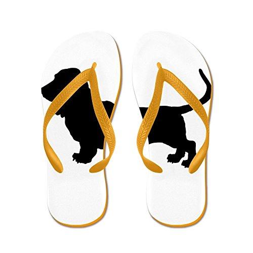CafePress - Basset Hound Silhouette - Flip Flops, Funny Thong Sandals, Beach Sandals