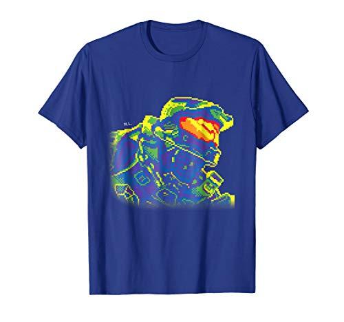 Pixelated Rainbow Master Chief (Halo T Shirt Small)