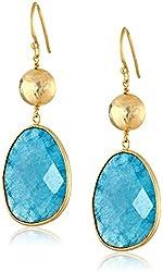 Argento Vivo Gold-Tone Aventurine Double-Drop Earrings