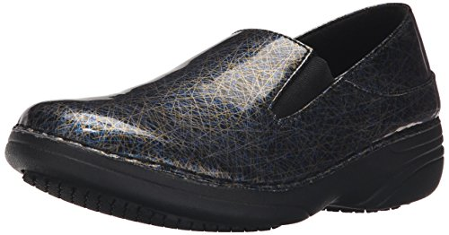 Spring Step Women's Ferrara Work Shoe, Blue/Multi Line Art, 7.5 M US by Spring Step