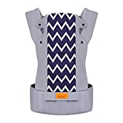 Bable Baby Carrier, Baby Carrier Wrap 3 in 1 Ergonomic Multi-Position for 8-26lbs, Soft Cotton Baby Carriers Front and Back for All Seasons