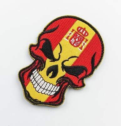 Parche bordado con insignias tácticas militares de la bandera de España en 3D con bucles y gancho: Amazon.es: Juguetes y juegos