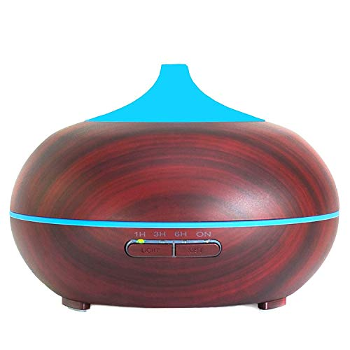 Your Spirit Space CHRISTMAS SALE 300ml Aromatherapy Essential Oil Diffuser Portable Ultrasonic Cool Mist Humidifier - 7 Color LED Lights Auto Shut-Off Home Office Bedroom Spa Yoga Living/Baby (Cherry)