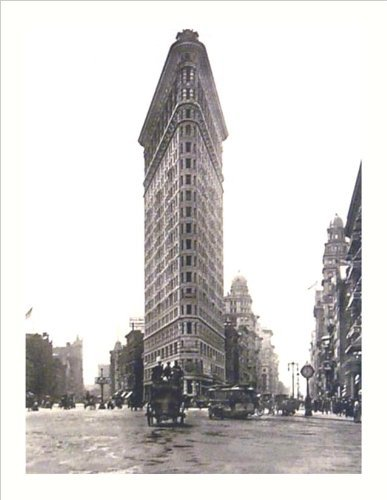 (Buyartforless Flat Iron Building Turn of The Century Photograph 19.75x15.5 Art Print Poster Wall Decor New York City Vintage Antique Horse and Buggy)