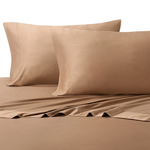 Royal Tradition 100 Percent Bamboo Bed Sheet Set, Split California King, Solid Taupe, Super Soft and Cool Bamboo Viscose 5PC Sheets