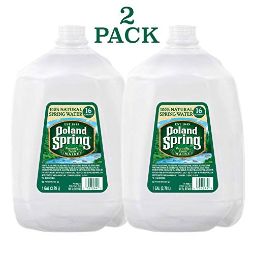 Poland Spring Brand 100% Natural Spring Water, 2 pack, 2 - 1-gallon plastic jugs, 256 Fl Oz