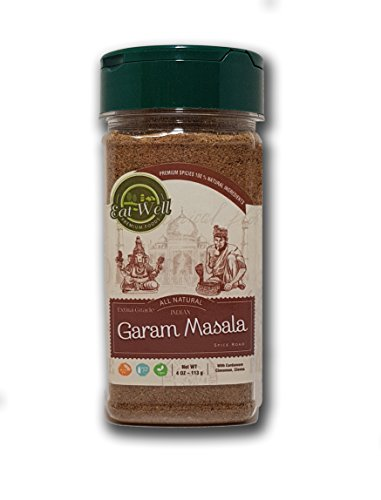 (Garam Masala Spice Blend | 4 oz - 113 g | SALT FREE | Authentic Indian Food Spices | Gluten Free | by Eat Well Premium Foods |)