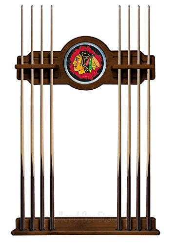 Chicago Blackhawks Cue Rack in Chardonnay Finish by Holland Bar Stool Co.