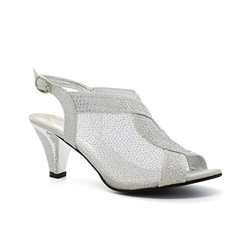 Cheville De London Footwear Bride Argent Femme xvOw7