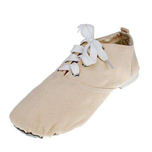 Dames Canvas Lage Hak Balletdans Sneaker Naturel