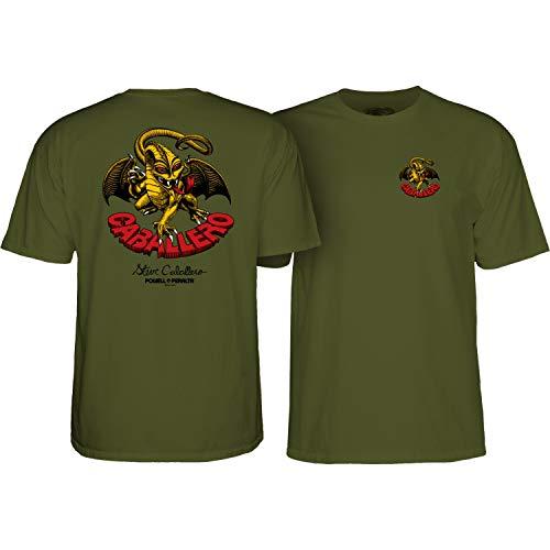 (Powell-Peralta Skateboard Shirt Cab Dragon II Military Green Size S)