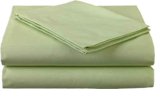 Percale Sheets Kids Bedding (American Baby Company 100% Cotton Percale Toddler Bedding Sheet Set, Celery, 3 Piece)