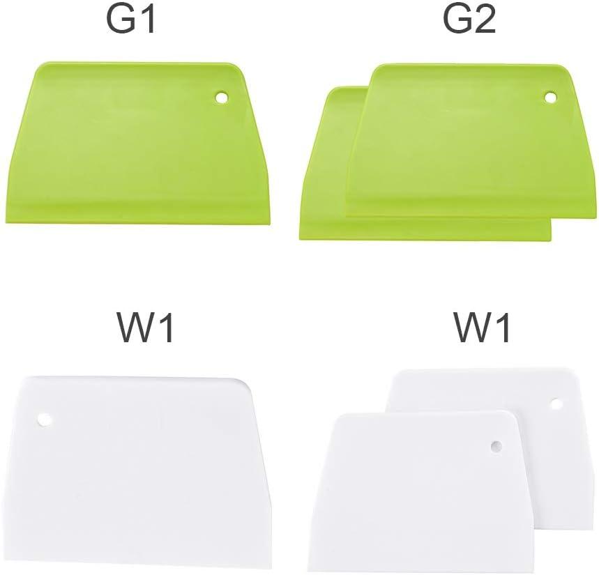 Jemets Trapezoidal Plastic Flour Scraper Baking Utensils Intestinal Powder Scraper Cream Cake Scraper Flour Cut 13.5 9.5 0.48 cm