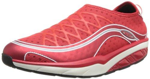 MBT Women's Afiya Slip-on Athletic Shoe,Neo Red/White,38 EU/7-7.5 M US Mbt Physiological Footwear