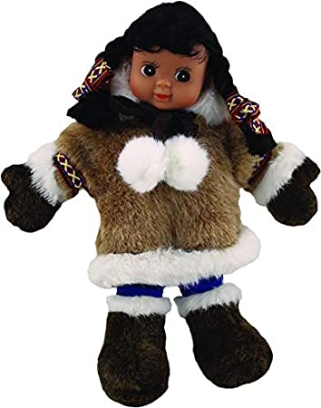 Dark Alaskan Friends Traditional Alaska Eskimo Native Doll 11 with Fur Parka