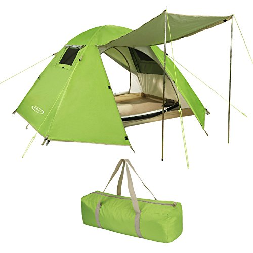 G4Free Professional 2 Person Camping Tent Outdoor 3 Season Mountaineering Backpacking Tents, Good Ventilation Rainproof, with Waterproof Spray, Easy Set Up for Family Hiking Travel Climbing(Green)