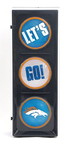 - New Island 98 Denver Broncos Flashing Let's go Light sequential Flashing Electric Light, Free Stand or Wall mountable, Size 5.88