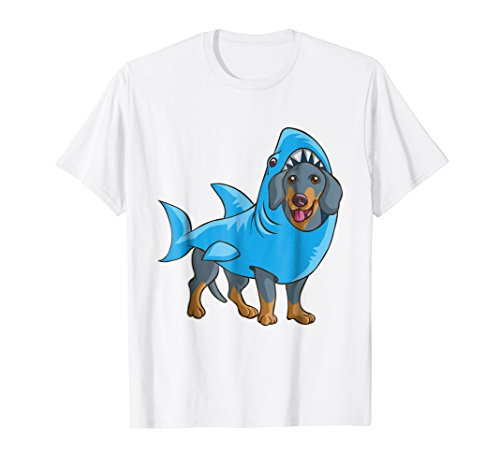 Dachshund Shark Shirt Funny Dog Suit Puppy Great White Gift ()