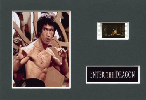 ENTER THE DRAGON - Bruce Lee - Mounted 35mm Movie Film Cell