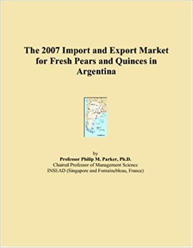 Vapaa kirjan lataus pdf-muodossa The 2007 Import and Export Market for Fresh Pears and Quinces in Argentina 0497635550 PDF FB2 iBook
