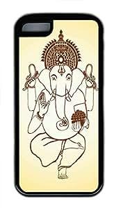 Hot iPhone 5C Customized Unique Print Design Ganesha Graphics New Fashion Tpu Black iPhone 5C Cases