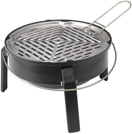 KORPÖN - Barbacoa portátil de carbón, color negro