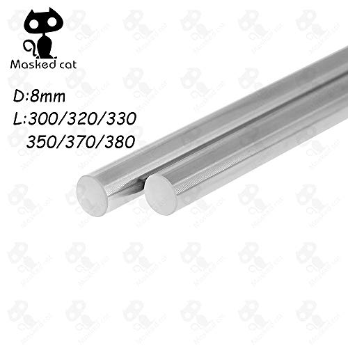 (3D Printer - 4pcs Optical Axis 300 320 330 350 370 380mm Smooth Rods 8mm Linear Shaft Rail 3D Printers Parts Chrome Plated Guide Slide Part - (Size: 390mm))