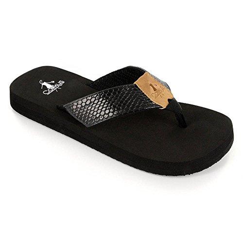 Corkys Footwear Donna Sandalo Infradito Segreto Nero